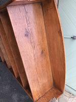 Antique Oak Open Bookcase (7 of 7)