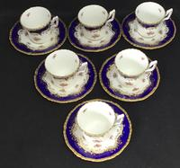 Beautiful Set of 6 Victorian Coalport Floral Decorated Coffee Cans & Saucers (3 of 7)