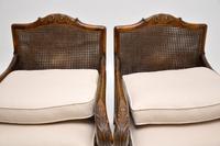 Pair of Antique Swedish Satin  Birch Bergere Armchairs (11 of 12)