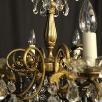 Italian Gilded Brass 8 Light Antique Chandelier (8 of 8)