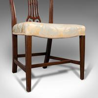 Pair of Antique Hepplewhite Revival Side Chairs, English, Seat, Victorian, 1890 (12 of 12)