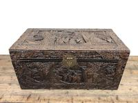 Carved Oriental Camphorwood Chest or Trunk (6 of 13)