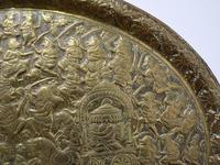 Large Oval Asian Brass Wall Hanging Marriage Charger (3 of 15)