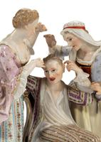 Late 19th Century Meissen Group of Two Women Tormenting a Male (2 of 7)