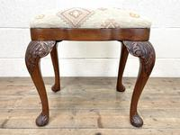 Late Victorian Carved Mahogany Stool (2 of 8)