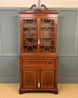 Edwardian Inlaid Mahogany Secretaire Bookcase (2 of 21)
