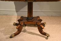Regency Brass Inlaid Rosewood Card Table (4 of 6)
