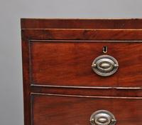 19th Century Mahogany Bowfront Chest (8 of 9)