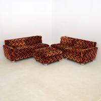 1960's Vintage Modular Corner Sofa & Ottoman