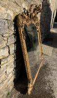 Large Victorian Gilt Overmantel Mirror (4 of 20)