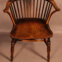 Thames Valley Yew Wood Windsor Chair (5 of 11)