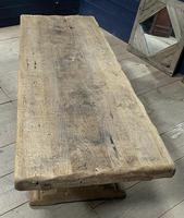 Superb Very Rustic French Oak Bleached Oak Farmhouse Dining Table (11 of 32)