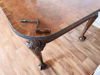 Burr Walnut Extending Dining Table (16 of 17)