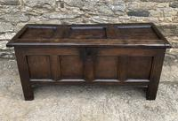 Small Early 18th Century Oak Panelled Coffer
