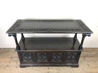 Early 20th Century Stained Oak Monk's Bench (4 of 14)