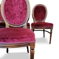 Set of Six Victorian Walnut Balloon Back Chairs (6 of 6)