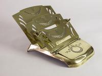 Antique 'Ges Gesch' Brass Letter Rack (3 of 6)