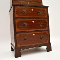 Antique Georgian Period Inlaid Mahogany Miniature Bookcase (3 of 12)