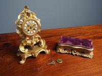 Louis XV Style Ormolu Mantel Clock by Raingo, Paris (14 of 16)