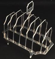 Victorian Silver Plated 7 Bar Toast Rack. (2 of 4)