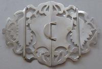 Edwardian Birmingham 1910 Hallmarked Solid Silver Nurses Belt Buckle (3 of 9)