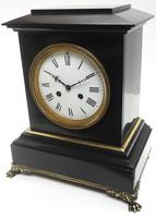 Antique French Slate & Ormolu Mantel Clock striking 8 day (11 of 11)