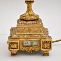 Pair of Antique French Porcelain & Gilt Metal Table Lamps (5 of 12)