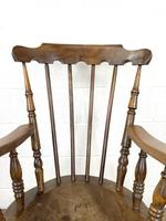Antique Ash & Elm Armchair with Penny Seat (4 of 9)