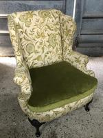 Queen Anne Style French Wing Back Chair (9 of 9)