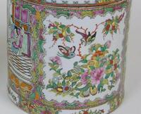 Fabulous Large Pair Chinese Famille Rose Opium Jars (10 of 12)