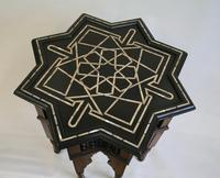 Syrian Hardwood Star Shaped Side Table (4 of 4)