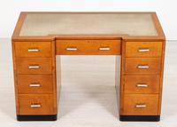 Blonde Oak Art Deco Desk (3 of 9)