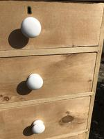 Antique Pine Two Over Three Chest of Drawers (4 of 11)