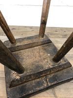 Antique Elm Four Leg Stool (9 of 9)