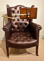 Edwardian Mahogany Leather Wing-back Armchair (2 of 10)