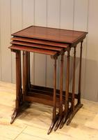 Mahogany Nest of Four Tables (11 of 11)