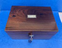 Victorian Rosewood Jewellery Box with Side Drawer (6 of 12)