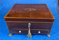 Georgian Mahogany Jewellery Box with Front Drawer (17 of 17)