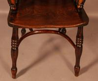 High Back Windsor Chair Ash & Elm Rockley Maker (2 of 8)