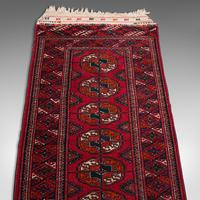 Antique Near Pair, Bokhara Rugs, Turkoman, Tekke, Carpet, Wall Covering, C.1910 (11 of 12)
