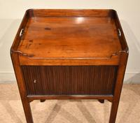 George III Tambour Fronted Bedside Table / Commode (5 of 7)