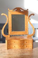 Swedish Birch / Masurbjörk Box Mirror Rococo style c.1820 (4 of 15)