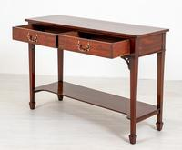 2 Drawer Mahogany Hall / Console Table (4 of 6)