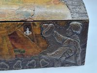 Antique Russian Wood Box with Basma Abramtsevo - Very Large (6 of 13)