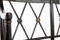 English 19th Century Regency Ebonised Cane Seat Sofa (7 of 8)