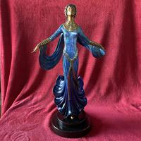 "Erte (romain De Tirtoff) Ltd Edition Bronze Sculpture ""Ecstasy"" 163/500"