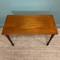 Elegant Victorian Mahogany Antique Side Stretcher Table (7 of 7)
