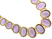 274.91ct Amethyst & 18ct Yellow Gold Rivière Necklace - Antique Victorian (5 of 12)