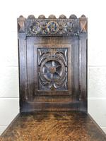 19th Century Carved Oak Hall Chair (4 of 9)