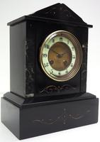 Good Slate & Marble Mantel Clock 8 Day Striking Mantle Clock (6 of 9)